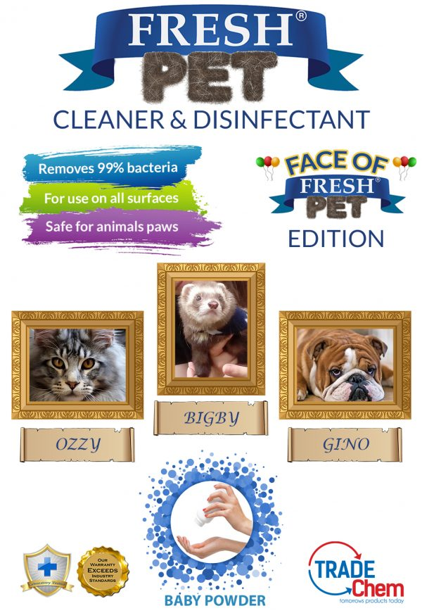 Fresh Pet Baby Powder 5L with Face of Fresh Pet Images