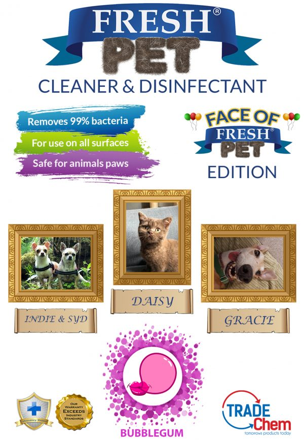 Fresh Pet Bubblegum 5L with Face of Fresh Pet Images