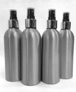 4 x Aluminium Bottles with Atomizers