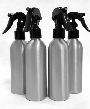 4 x Aluminium Bottles with Spray Heads