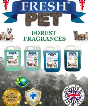 4 X 5L FRESH PET Disinfectant Forest Fragrances
