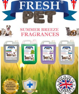 4 X 5L FRESH PET Disinfectant Summer Breeze Fragrances