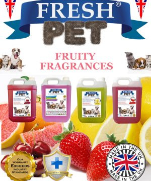 4 X 5L FRESH PET Disinfectant Fruity Fragrances