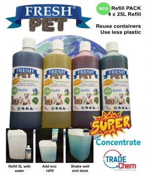 FRESH PET 4 x 1L ECO-REFILL - TO MAKE 100L