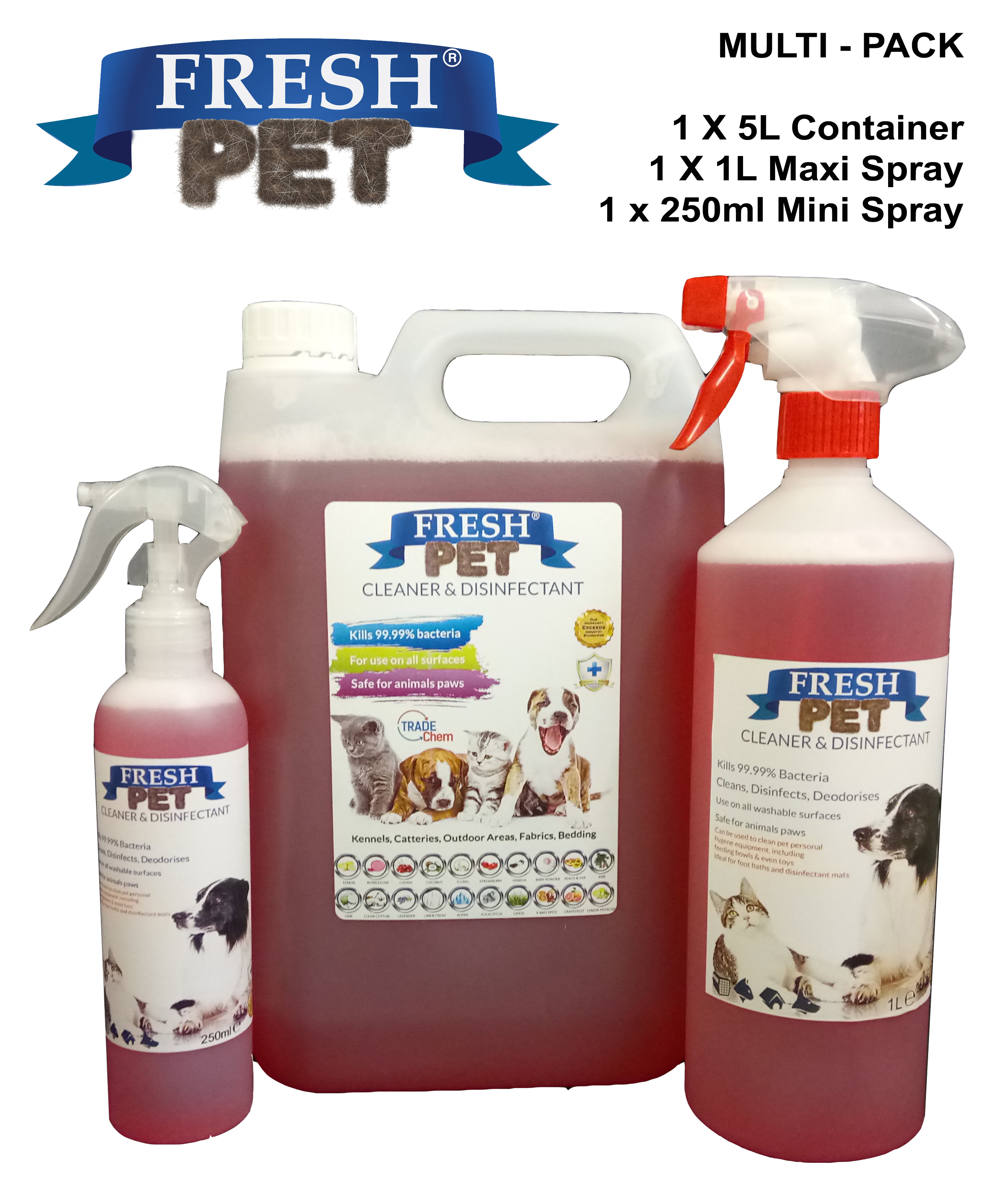 Fresh Pet Kennel Cattery Disinfectant Multi Pack