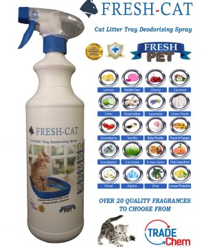 FRESH CAT Cat Litter Tray Deodorising Spray 1 Litre