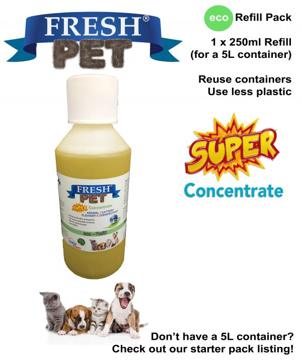 Fresh Pet Disinfectant 250ml Eco Refill for 5L Containers