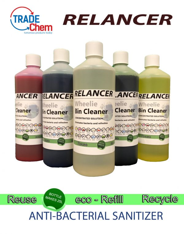 Relancer Wheelie Bin Cleaner 1L Eco-Refill for 25L