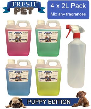 Fresh Pet PUPPY EDITION 4 x 2L + 1L Empty Container