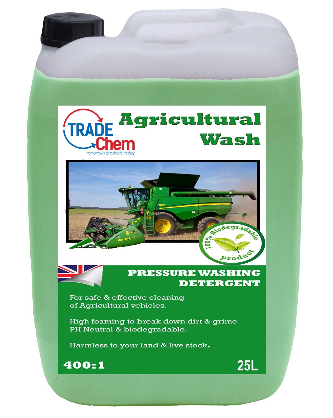 Agricultural Wash 400:1 Tractor Clean 25L Litre HGV TFR