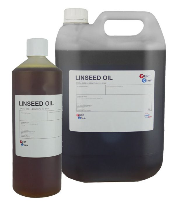 1L and 5L of Linseed Oil