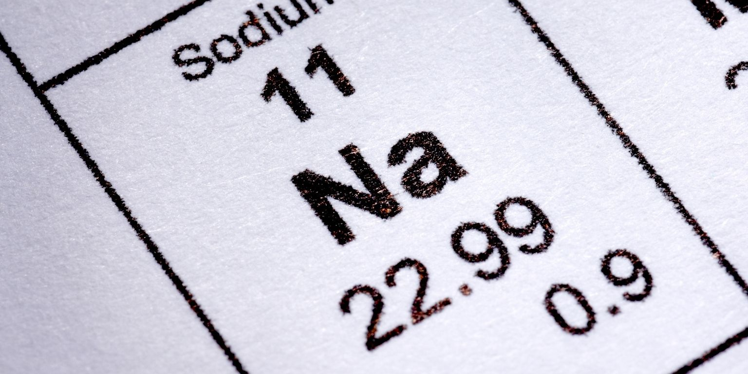 Sodium Table Pic