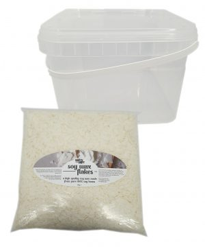 CraftyCraft Soy Wax Flakes 2KG Bag With Tub